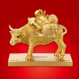 牛の置物・お飾りで金運ご利益を2021丑年「金運黄金大明神」