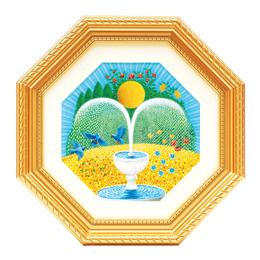 ミニ風水絵画「トイレ用ミニ風水画金運の泉」を飾るべき?