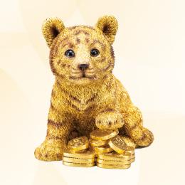 2022年の金運縁起に虎の子を「金運黄金大明神 寅の子」